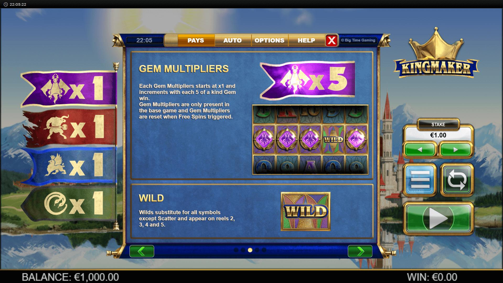 Kingmaker Slot Machine