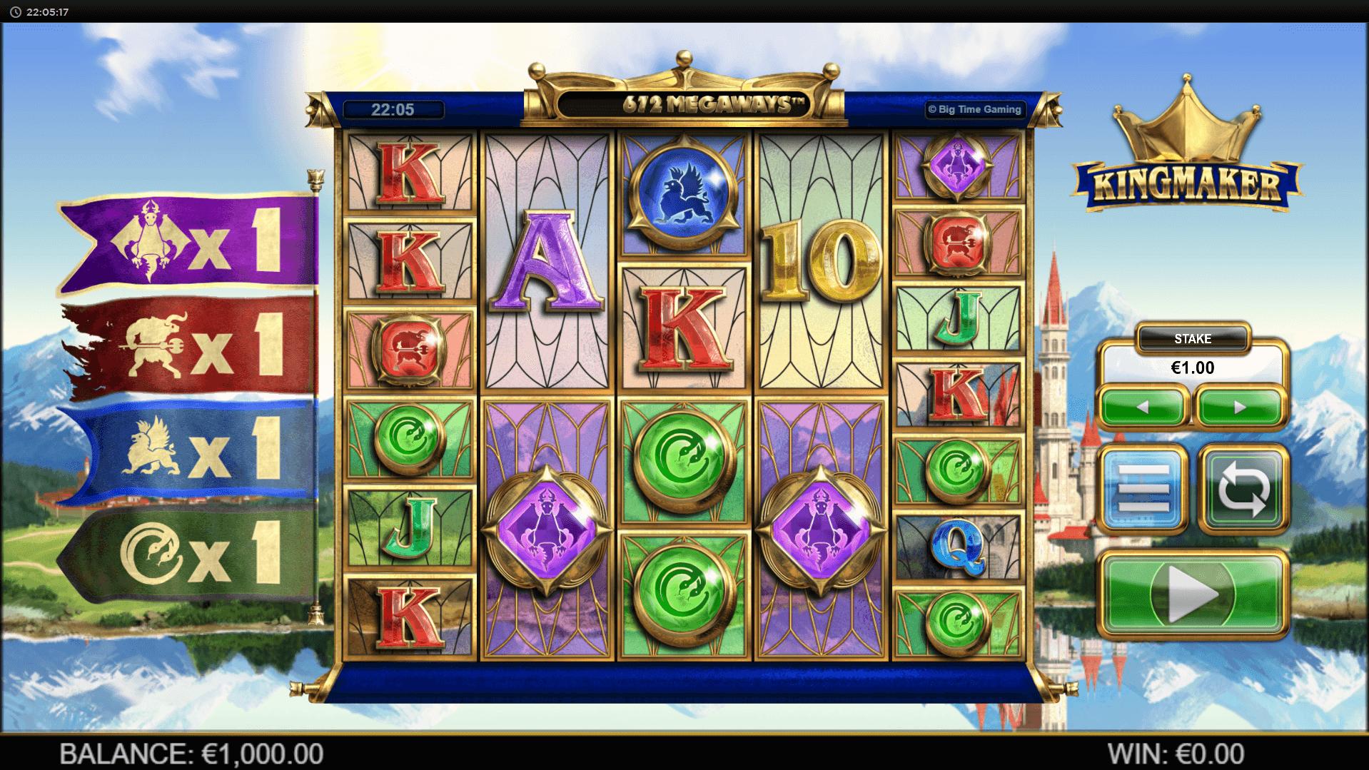 Kingmaker slot machine screenshot