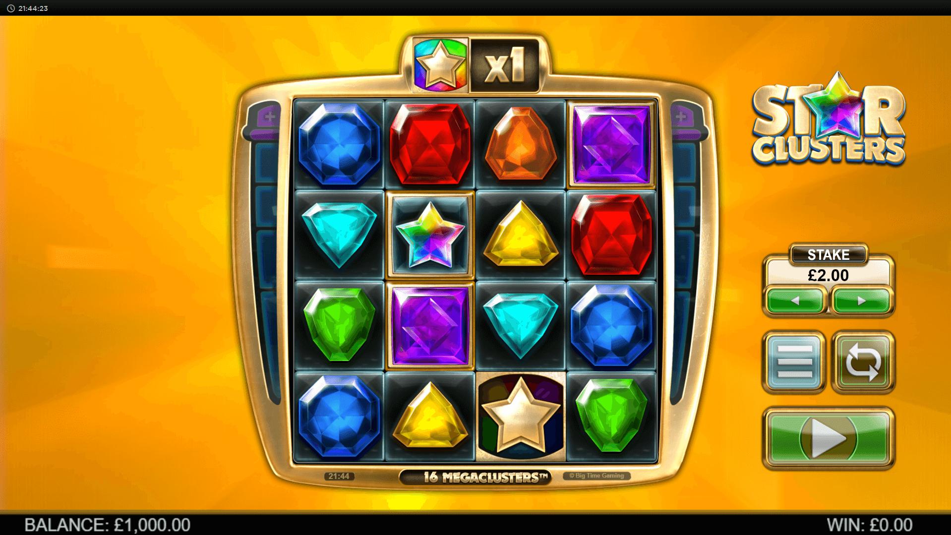Star Clusters Megaclusters slot machine screenshot