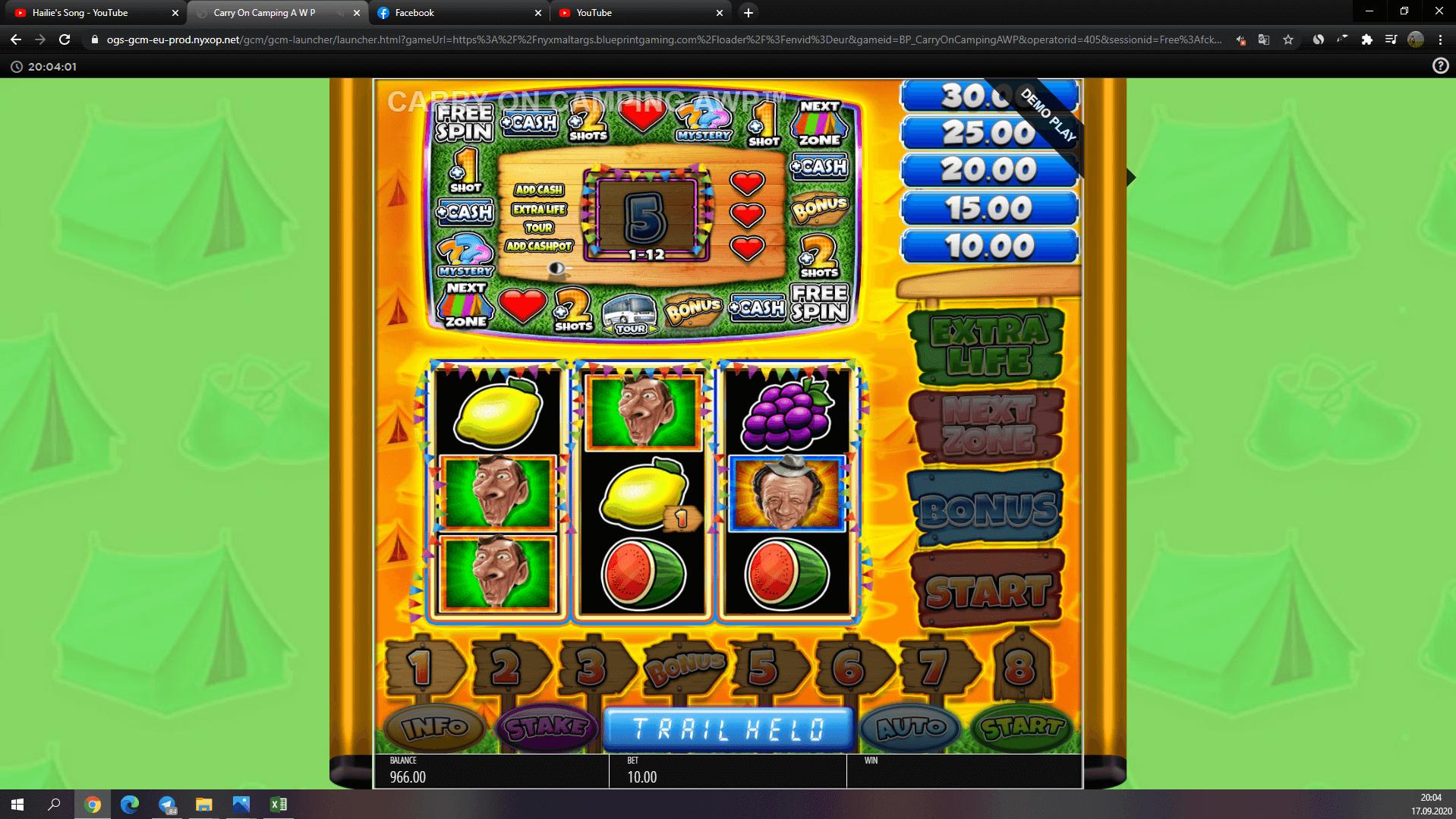 Carry On Camping Pub Fruit Slot Machine