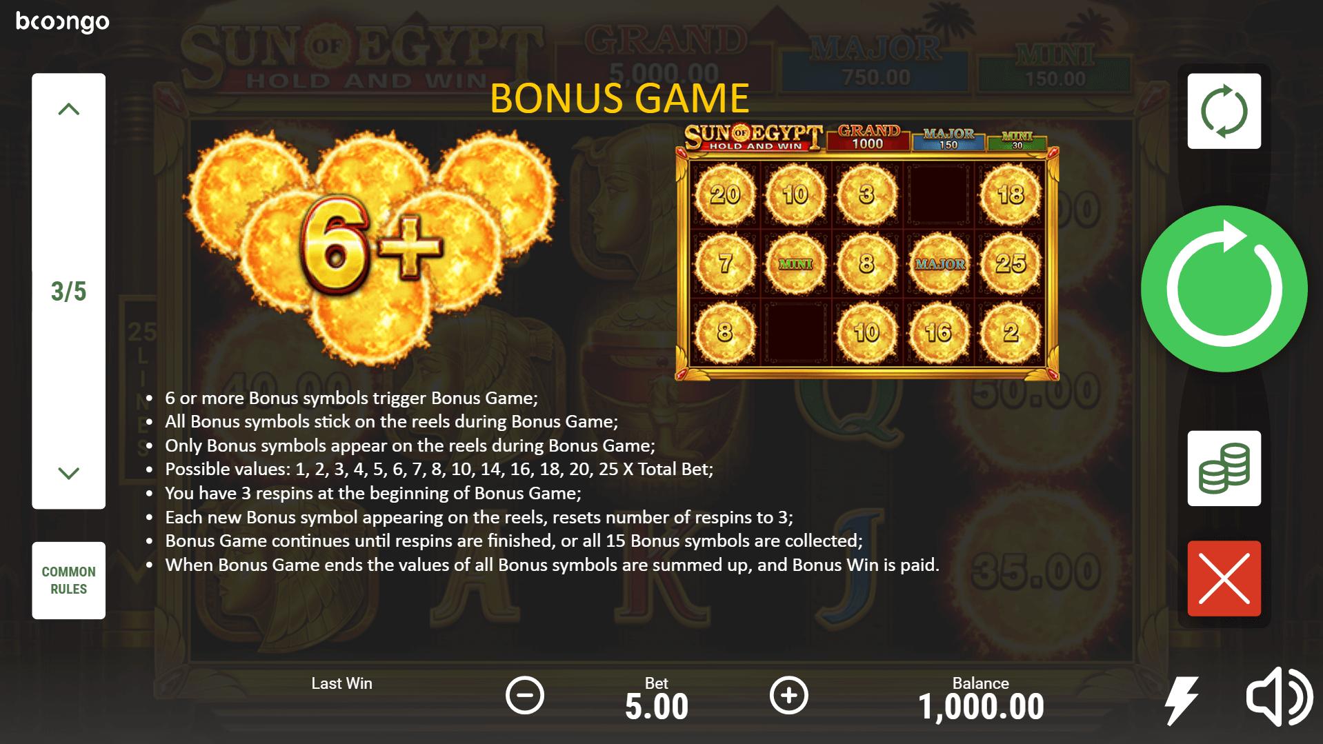 Sun Of Egypt Slot Machine