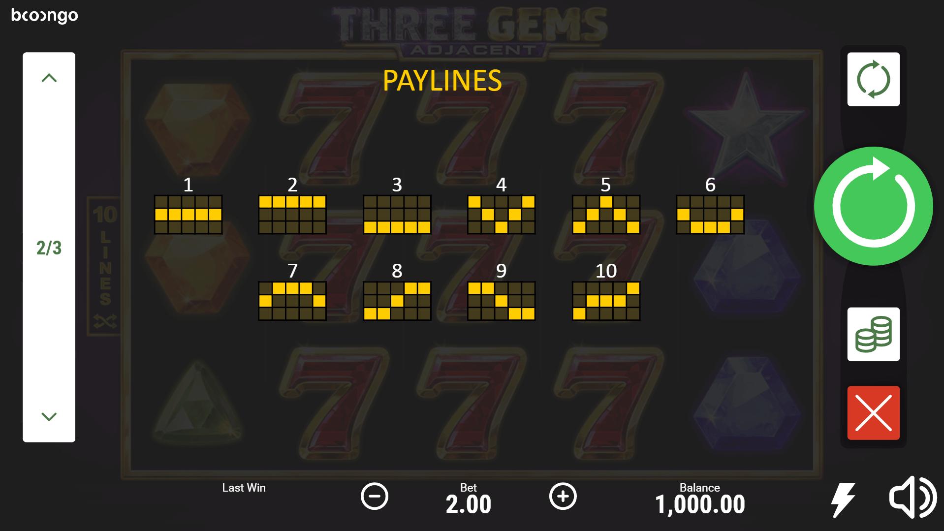 Three Gems Slot Machine