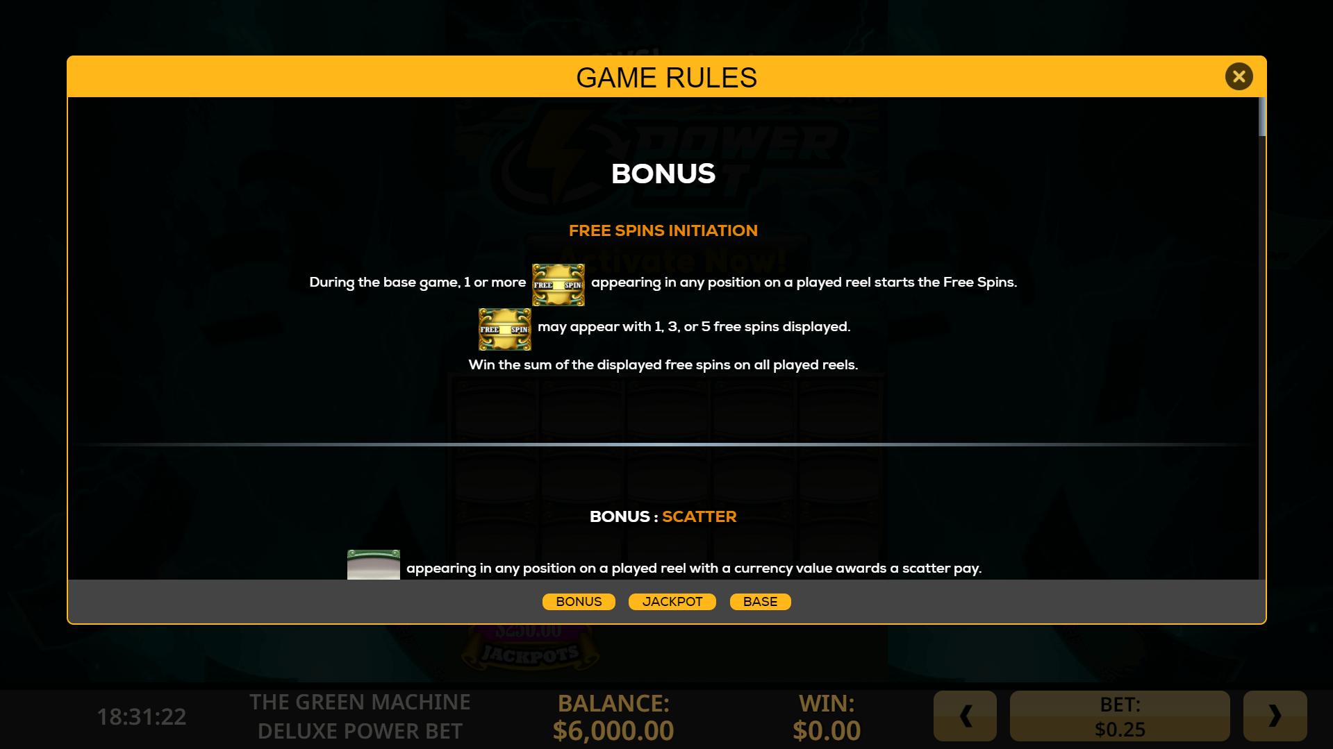 New free spins no deposit