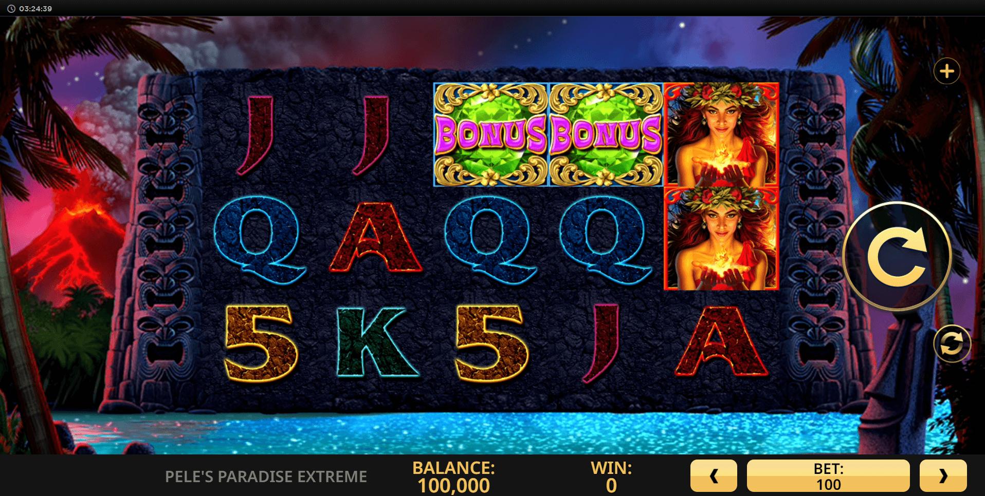 Peles Paradise Extreme slot machine screenshot