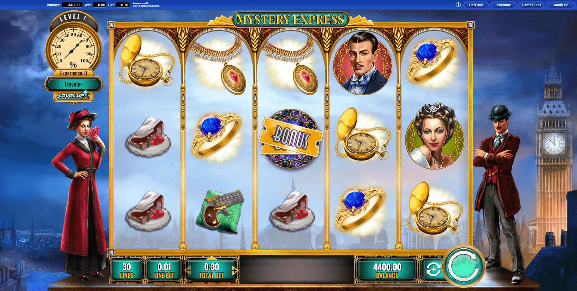 Mystery Express slot machine screenshot