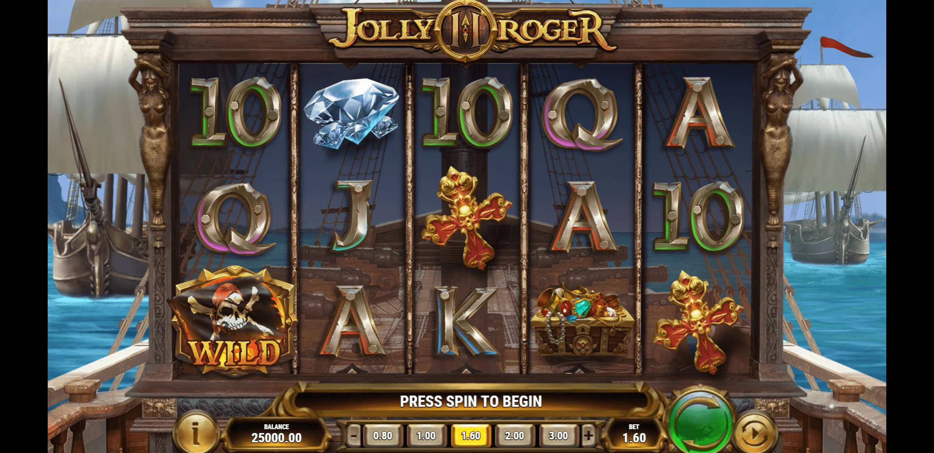 Jolly Roger 2 slot machine screenshot