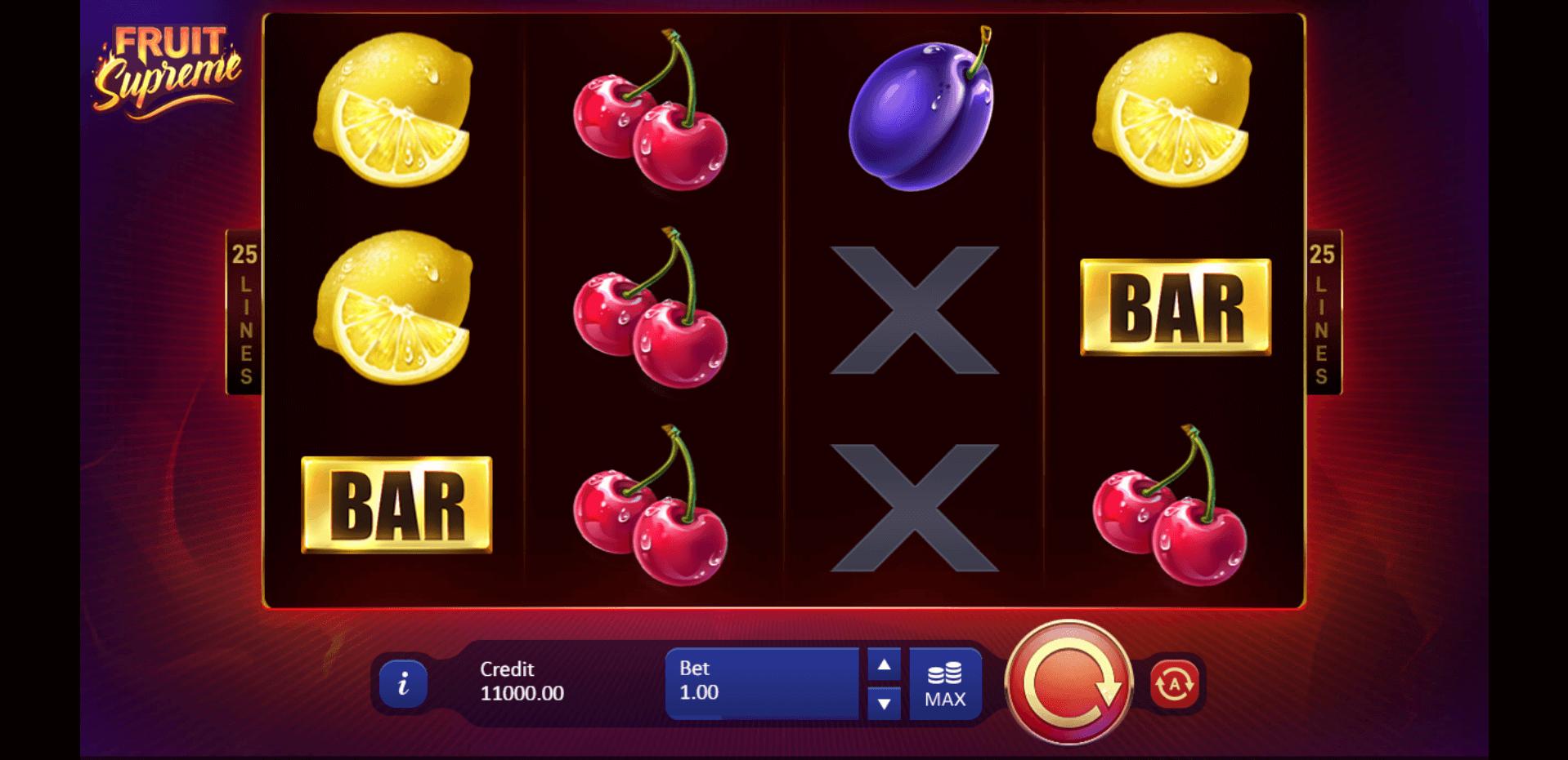Fruit Supreme slot machine screenshot