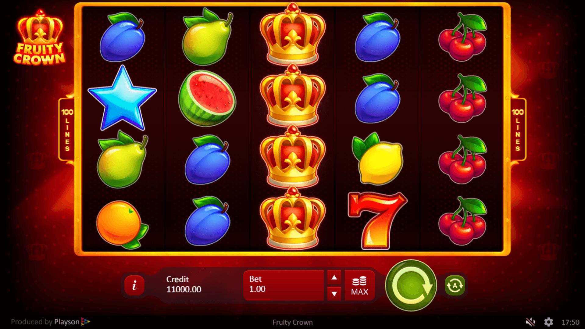 Fruity Crown slot machine screenshot