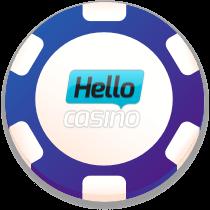 hello! casino bonus chip logo