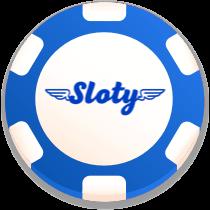 sloty casino bonus chip logo