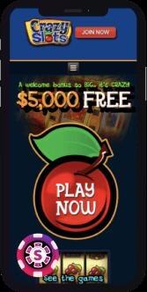 crazy slots casino mobile