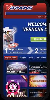 vernons casino mobile