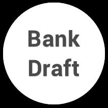 bank draft casino payment logo