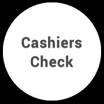 cashiers check casino payment logo
