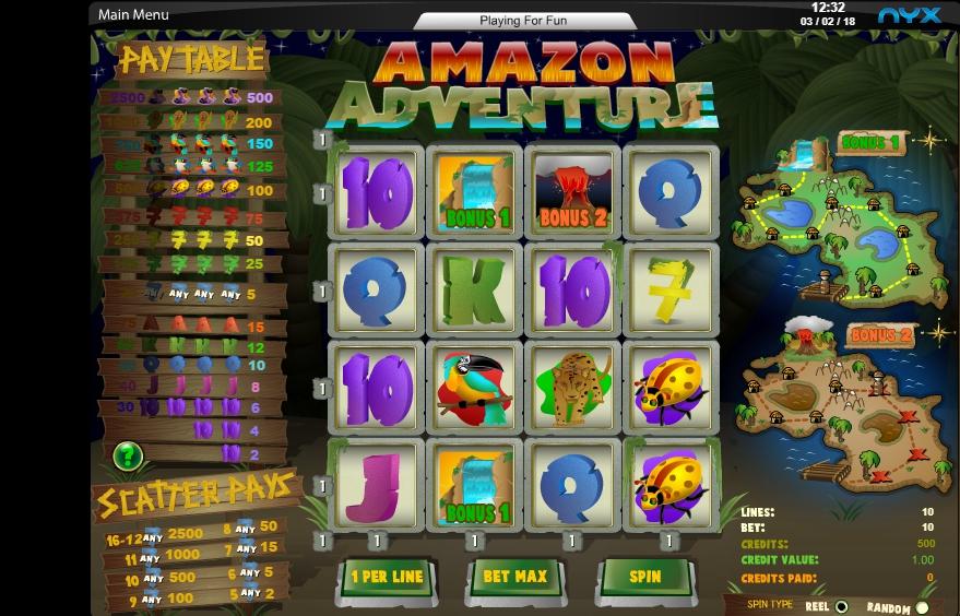 amazon adventure slot machine detail image 1