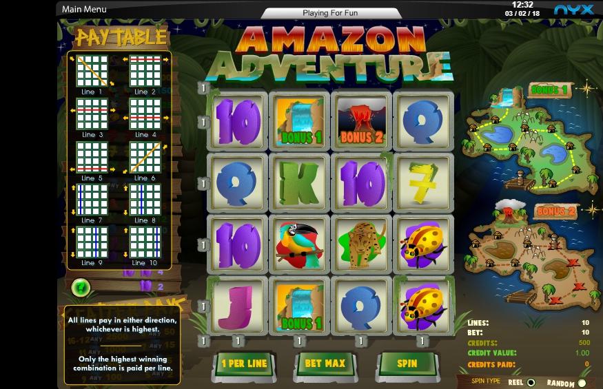 amazon adventure slot machine detail image 0