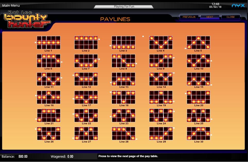 kat lee: bounty hunter slot machine detail image 0