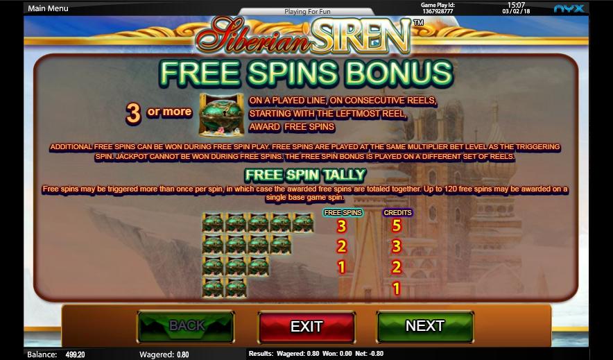 siberian siren slot machine detail image 5