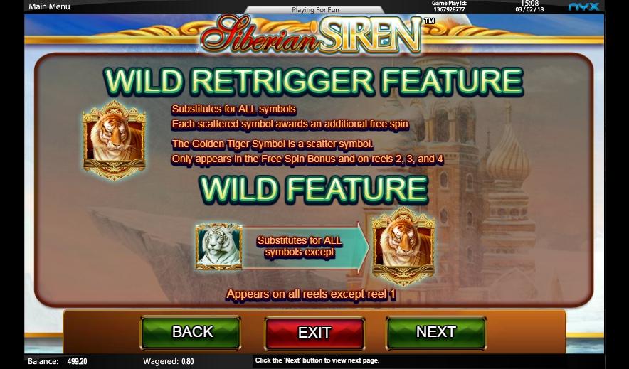 siberian siren slot machine detail image 4