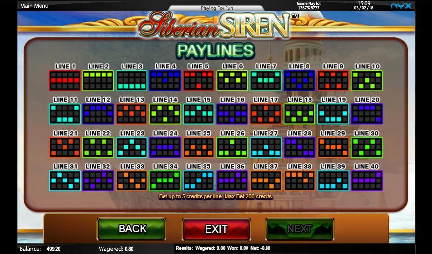 siberian siren slot machine detail image 0