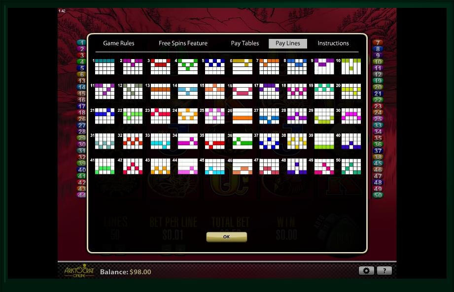 50 dragons slot machine detail image 1