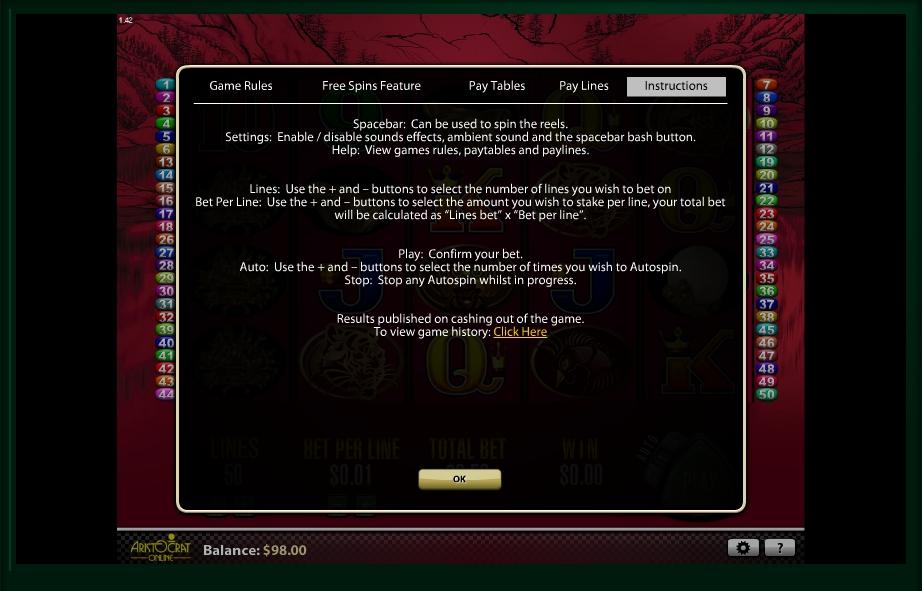 50 dragons slot machine detail image 0