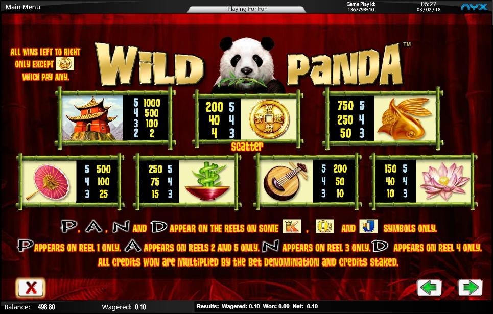 wild panda slot machine detail image 5
