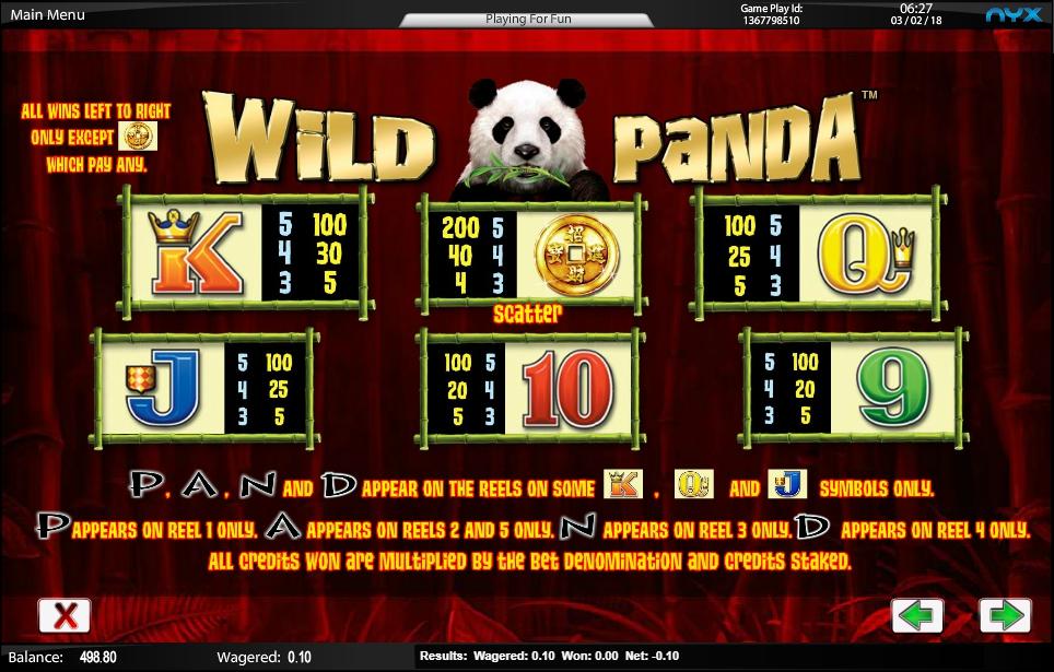 wild panda slot machine detail image 4