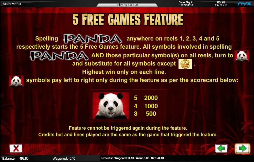 wild panda slot machine detail image 1