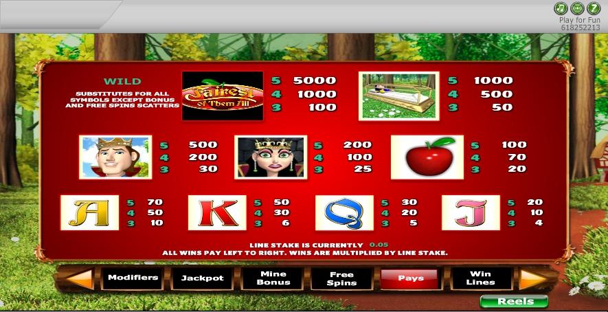 fairest of them all slot machine detail image 1