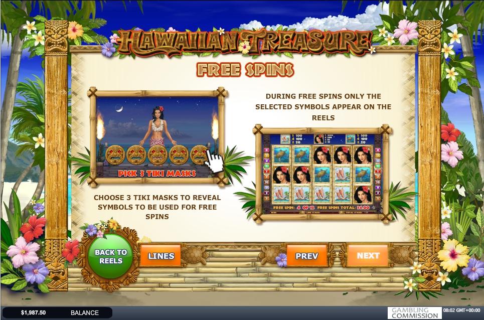 Hawaiian Treasure Slot Machine