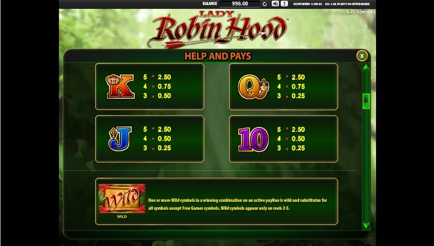 lady robin hood slot machine detail image 6