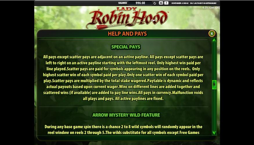 lady robin hood slot machine detail image 4