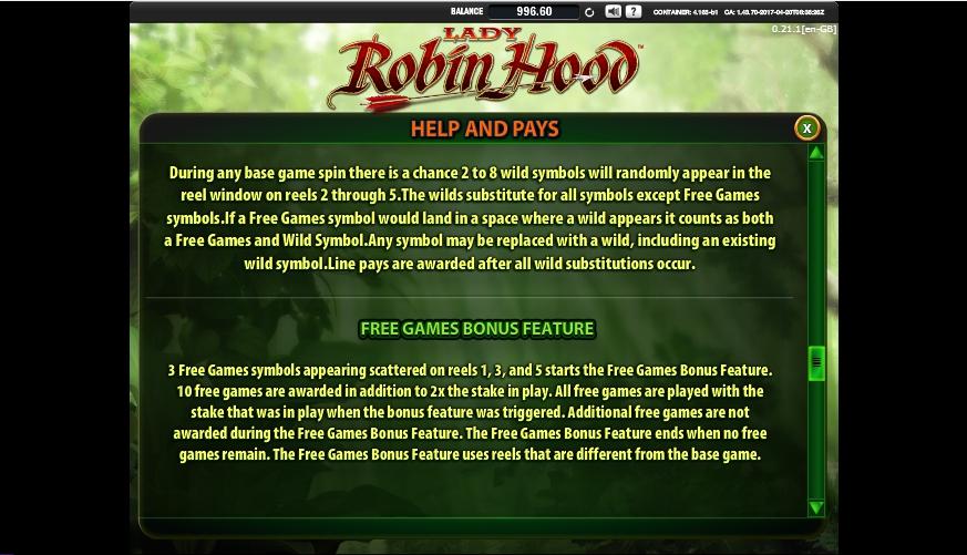 lady robin hood slot machine detail image 3