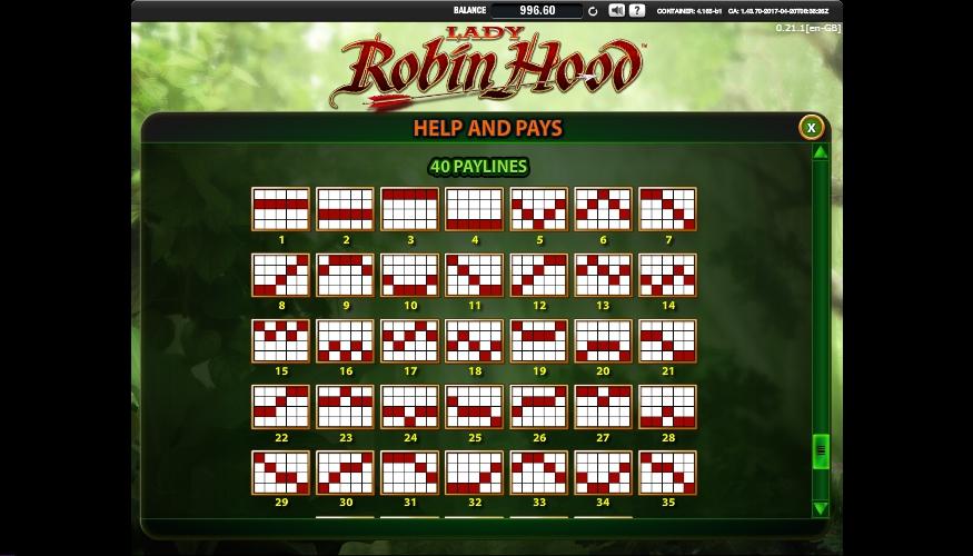 lady robin hood slot machine detail image 1