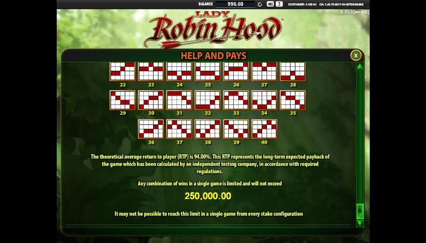 lady robin hood slot machine detail image 0