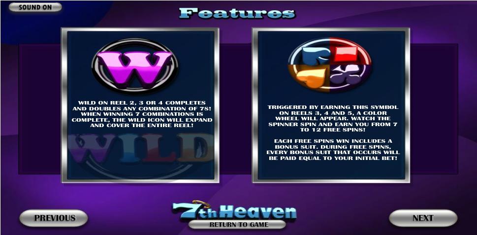 7th heaven slot machine detail image 1