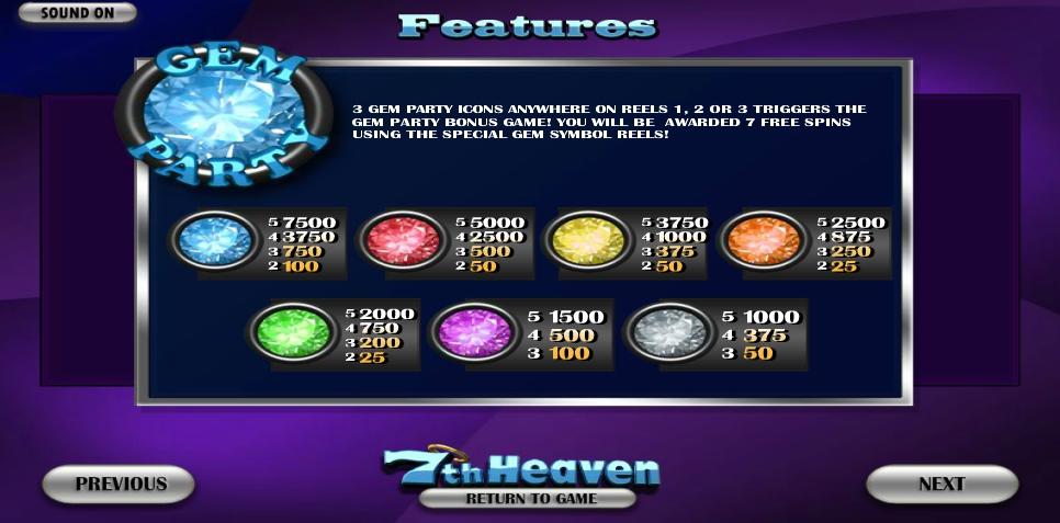 7th heaven slot machine detail image 0