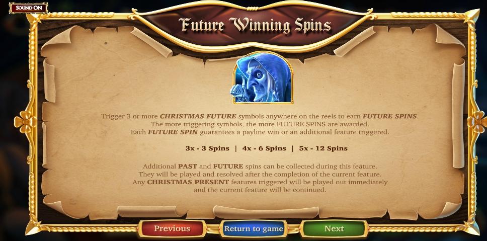 a christmas carol slot machine detail image 3