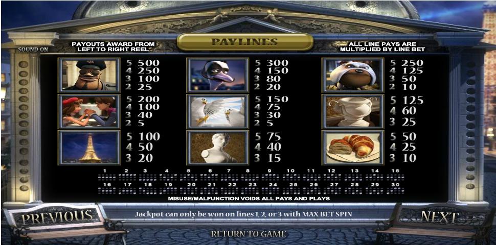 a night in paris jackpot slot slot machine detail image 2