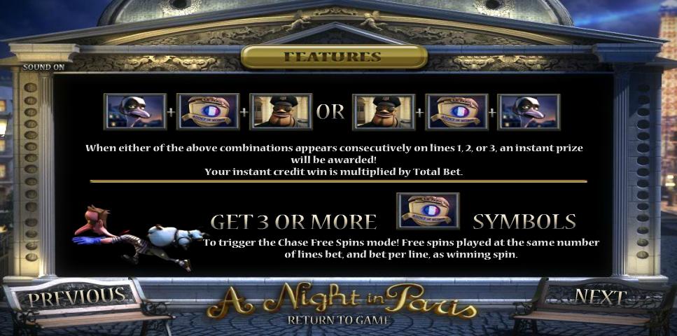 a night in paris jackpot slot slot machine detail image 1