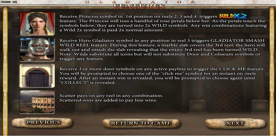gladiator slot machine detail image 1