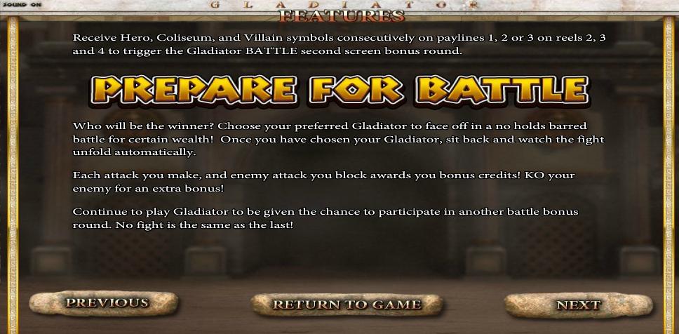 gladiator slot machine detail image 0