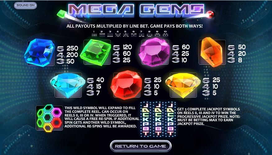 Mega Gems Slot Machine