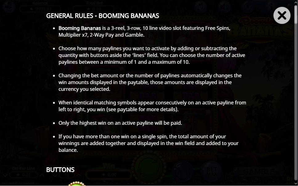booming bananas slot machine detail image 11