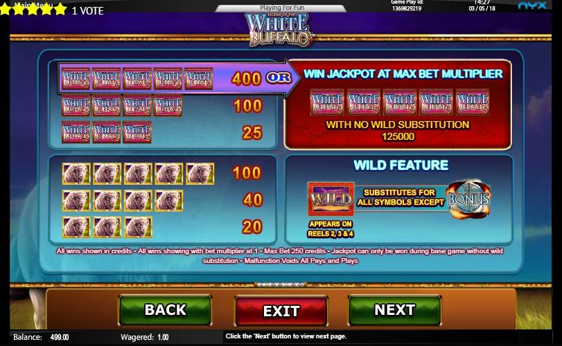 White Buffalo Slot Machine ᗎ Play FREE Casino Game Online ...