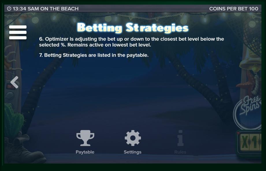 sam on the beach slot machine detail image 8