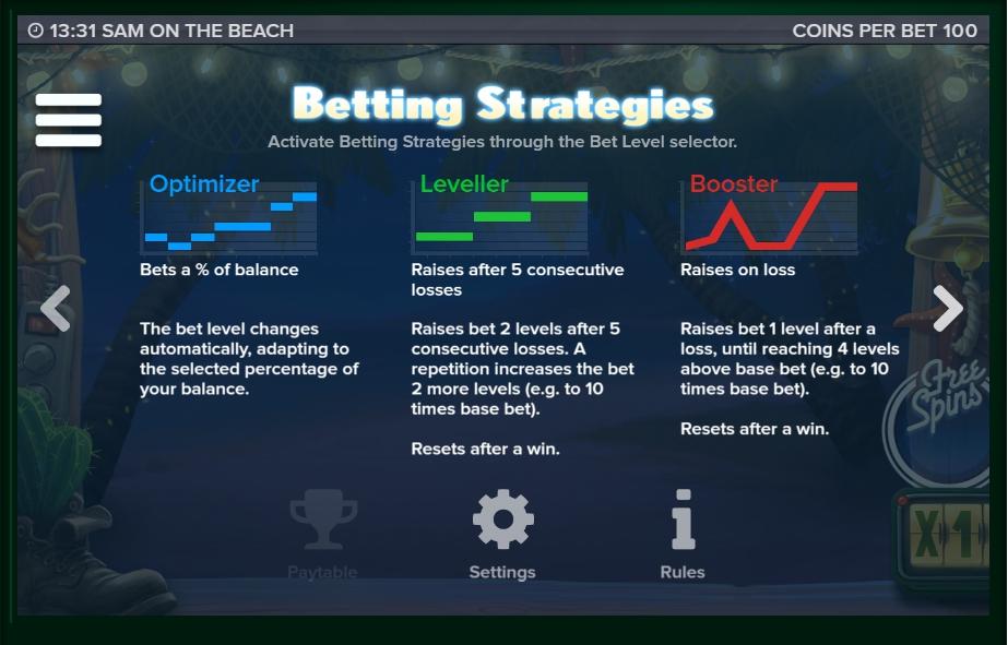 sam on the beach slot machine detail image 5