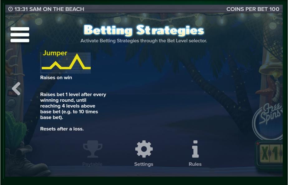 sam on the beach slot machine detail image 4