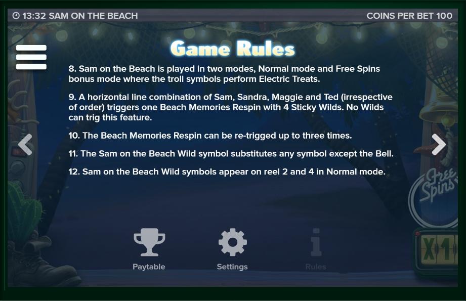 sam on the beach slot machine detail image 2